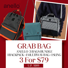 Qoo10 SPECIAL! *GRAB BAG SPECIAL* - Authentic Anello backpack/ shoulder bag/ hand bag | 3 in 1
