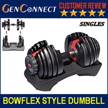 【SOLD IN PAIR】 Bowflex Dumbbell Sold in Pair (24kg*2) Dumbbell barbell set sports and fitness
