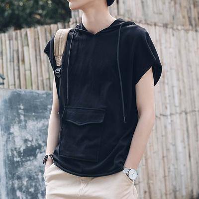 Qoo10 Spring And Summer Fashion Sleeveless Hooded Vest Male Japanese Korean Men S Clothing
