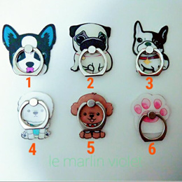 [SG SELLER] ★Suit All Phone Covers!★ Cartoon Dog Series Phone Ring Stand Phone Holder