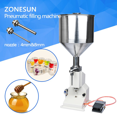 qoo10 zonesun pneumatic 5 50ml filling machine cream