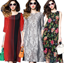 【Jun 19th update】2018 UK style premium silk dress plus size