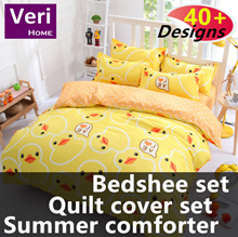 ★Single/Super/Queen/King★【Bedsheet/Quilt cover Set][Summer comforter]