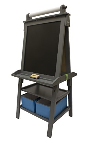 Little Partners Deluxe Art Easel - Two Sided A-Fram Paint Easel, Chalk  Board Magnetic Dry Erase -