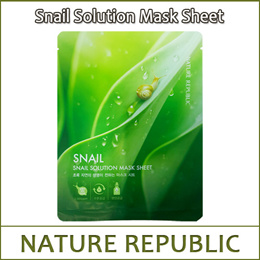 [NATUREREPUBLIC] ★Big Sale★ Snail Solution Mask Sheet Sample 20g / 3pcs / 8pcs