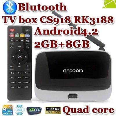 MK888 (K-R42/CS918) Android 4 2 TV Box RK3188 Quad Core Mini PC RJ-45 USB  WiFi XBMC Smart TV Media Player with Remote Controller