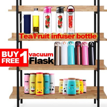 [Buy1 Get 1 Free ]Animal Thermal Flask ★ Fruit Infuser Bottle ★ Glass Bottle