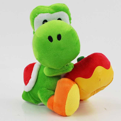 Qoo10 Discount Kawaii 18cm Yoshi With Apple Plush Doll Toy Super