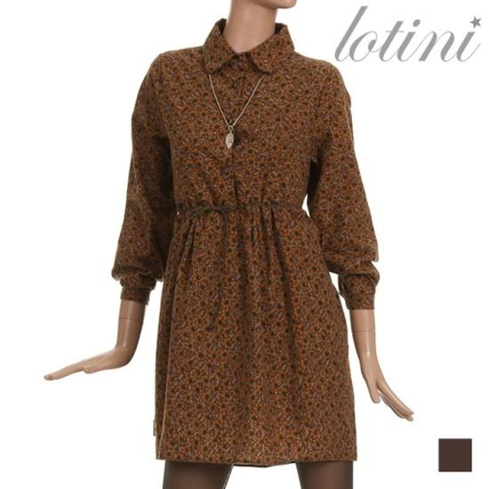 ロティニLOTINIフロア捺染カラワンピースLTJOP11 面ワンピース/ 韓国ファッション