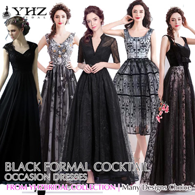 d16f8be2cd00 Black Evening Gown Cocktail Party Dress Mermaid Evening Dress Prom Dress  Formal Lace Dress