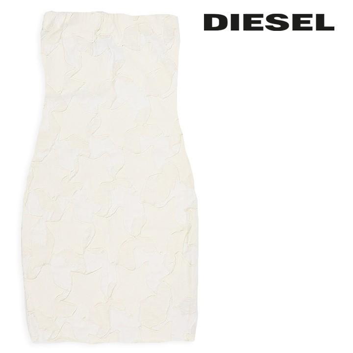 ディーゼル DIESEL ミニワンピース レディース ストレッチ タイト チューブトップ ベアトップ 薄手 カットオフ D-GALAXY