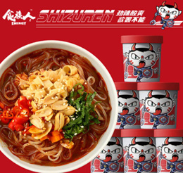 [SG READY] Shi Zu Ren Instant Noodle [6 CUPs ] / Spicy Clams Vermicelli/ Sesame Noodle/ Oden Noodle