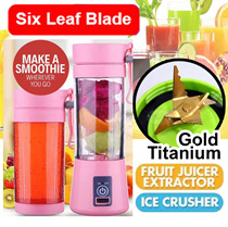 ⏰ 10% OFF ▶New Gen ◀★ 4000MHA ★6 Blade Gold Titanium★ Blend Ice ★USB charge ★Juicer★  + Free Recipe