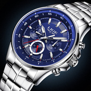 LIGE Watch Mens Watches Top Brand Luxury Stainless Steel Business Quartz Watch Men Sport Waterproof
