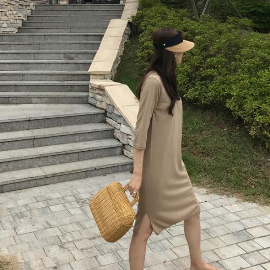 ショールームカーリー・ニット・ワンピース4color ニット・ワンピース/ 韓国ファッション