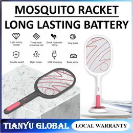 3000V Mosquito Racket Net Electric Insect Racket USB 1200mAh Rechargeable Mosquito Swatter