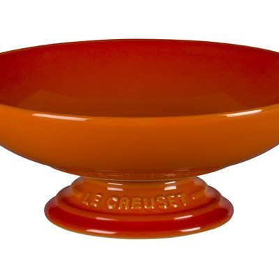 Le Creuset Stoneware Footed Serving Bowl Flame