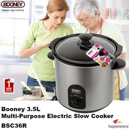115867c9e4c Booney 3.5L Multi-Purpose Electric Slow Cooker - BSC36R (1 Year Warranty)