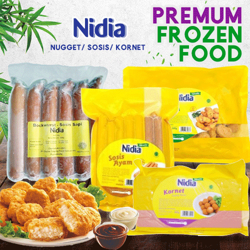 ( FREE SHIPPING JABODETABEK ) ANEKA PRODUK NIDIA OLAHAN SOSIS/NUGET SAPI/AYAM 500gr Deals for only Rp29.000 instead of Rp29.000