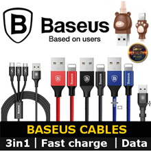 ★100% Authentic★Baseus Quick USB Cable Charge Micro USB / Lightning / Type C / 2in 1 / 3in 1