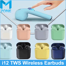 (Top Version TWS i12 Earbuds) Multi colour earphone Earbuds w Mic For Xiaomi Samsung Huawei iPhone