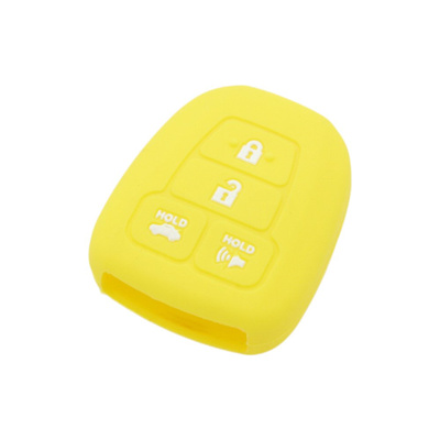 SEGADEN Silicone Cover Protector Case Skin Jacket fit for TOYOTA 4 Button Remote Key Fob CV2407 Red