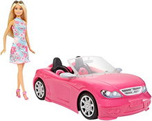 ▶$1 Shop Coupon◀  Barbie Doll and Car