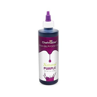 Chefmaster Natural Food Coloring for Baking, Airbrush Cake Color 9 oz.  Purple Natural Coloring, Liqu