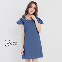 YOCO - Denim Embellishment Dress-171529