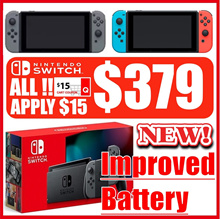 [1 year Warranty] NEW Nintendo Switch Console Grey / Neon / Improved Battery GEN 2