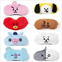 Kpop BTS BT21 Bangtan Boys Cute Travelling Shading Breathable Eye Mask Eye Cup Blinder