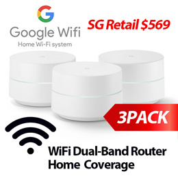 [LOWEST PRICE 365!] 3-PACK Google WIFI Dual-Band Wi-Fi Router (3-PACK) whole home coverage