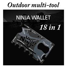 Ninja Wallet Multi Tool Credit Card Foldable Knife/ Sinclair Cardsharp Credit Card Safety Folding Knife/ Tool Multi-Purpose Pocket Survival Card Multi Function Outdoor Survival DIY