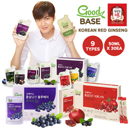 Lowest price! [Cheong Kwan jang Good Base] Korean Red Ginseng Pomegranate/Black Galric/Blueberry