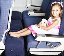 BEST SELLER! **Good for Travel with Kids!**  Inflatable pillow/footrest for flight/train/car journey