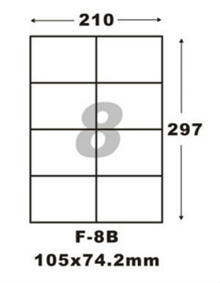 F-8B Sticker Label Selling Cheaper Than Shops.Use In A4 Size Printers.Address Labels/Product Labels/Adhesive sticker/ Mailing Labels (100 Gloss pcs In A Pack/80 Matt pcs in A Pack)