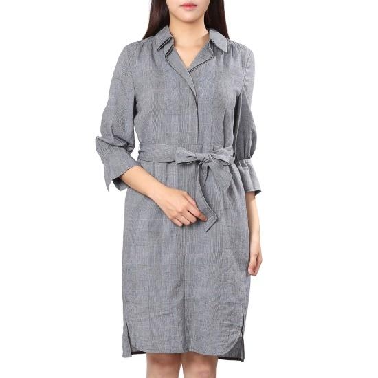 ナイスクルラプカラチェックワンピースN173MSE010 面ワンピース/ 韓国ファッション
