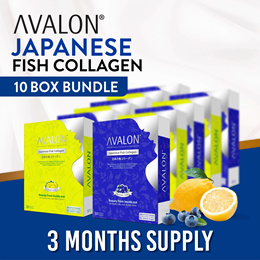 [BUNDLE OF 10] AVALON Japanese Fish Collagen | Collagen + Probiotics + Vitamin C