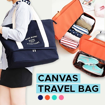 Best Selling Korean Layer travel bag  Waterproof MultiFuntional High Capacity Cabin Bag Deals for only RM9.9 instead of RM50
