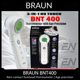 BRAUN IRT 6520 - Ear Thermometer | BNT400 Non-Contact BF Forehead Thermometer - Age Precision® Technology / Wide-Angle probe for Accurate measurements – including newborns - Local Stocks!