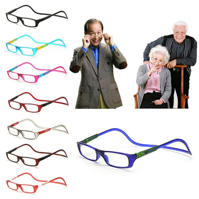d7712f4a541e 1PC Magnet Reading Glasses Adjustable Hanging Neck Presbyopic Glasses  Unisex FAN