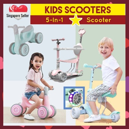 5-in-1 Kids Scooters / Foldable Tricycles / Bicycle / Bikes / Strollers fo Children Babies [ SALE ]