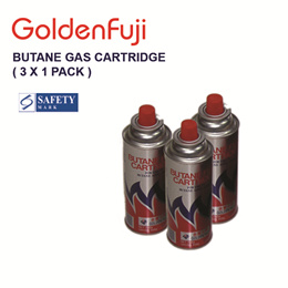 Golden Fuji Butane Gas Cartridge ( 3 x 1 pack )