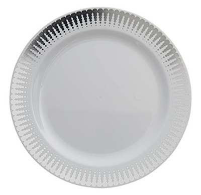 Plastic Wedding Plates.7 5in Silver Radial Design Premium Plastic Wedding Plates 40 Pack China Like