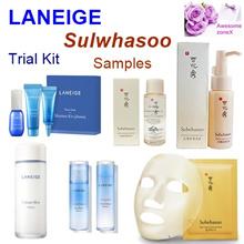 (Laneige)Trial Kit /Samples -Water Sleeping mask /Essential Emulsion ( Sulwhasoo) Cleaning foam
