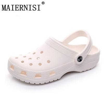 16b57fdc8 sale 2018 Men Sandals Summer Slippers Shoes Croc fashion beach Sandals  Casual Flat Slip On Flip