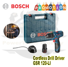 BOSCH 12V CORDLESS DRILL SET GSR 120-LI / 12V CORDLESS DRILL DRIVER / FREE ACCESSORIES
