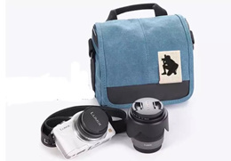 water proof double compartment Canvas Camera bag / sling bag for camera / case / cover