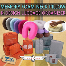 ★BEST SELLER 2016★ MEMORY FOAM/PREMIUM PLUSH NECK PILLOW! TRAVEL LUGGAGE ORGANIZER!