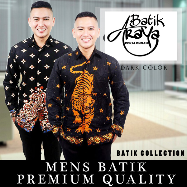 [ New Collection ] PREMIUM QUALITY MENS BATIK | PEKALONGAN BATIK DARK COLOR